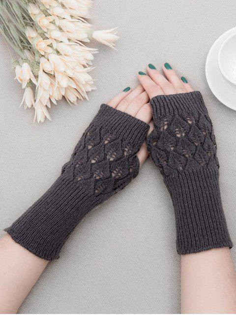 new Vintage Hollow Out Fingerless Gloves - GRAY  Mobile