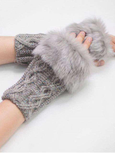 new Winter Rhombus Thick Fuzzy Gloves - GRAY CLOUD  Mobile