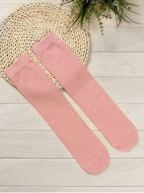ladies Solid Color Medium Stockings - LIGHT PINK  Mobile