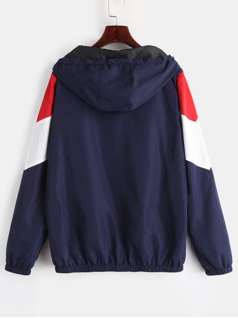 fancy ZAFUL Zip Up Color Block Windbreaker Jacket - MULTI M Mobile