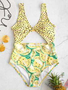 عالية مخصر البطيخ قطع ملابس السباحة - ذرة صفراء Xl