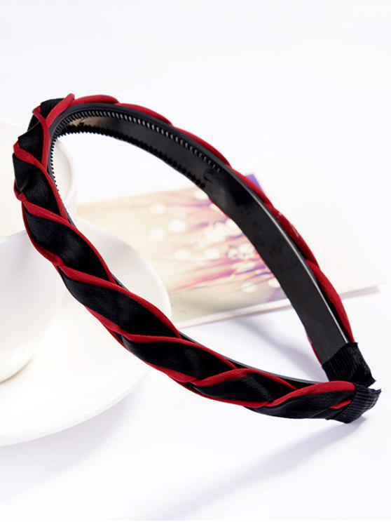 fancy Stylish Solid Color Hair Decoration Hair Hoop - RED