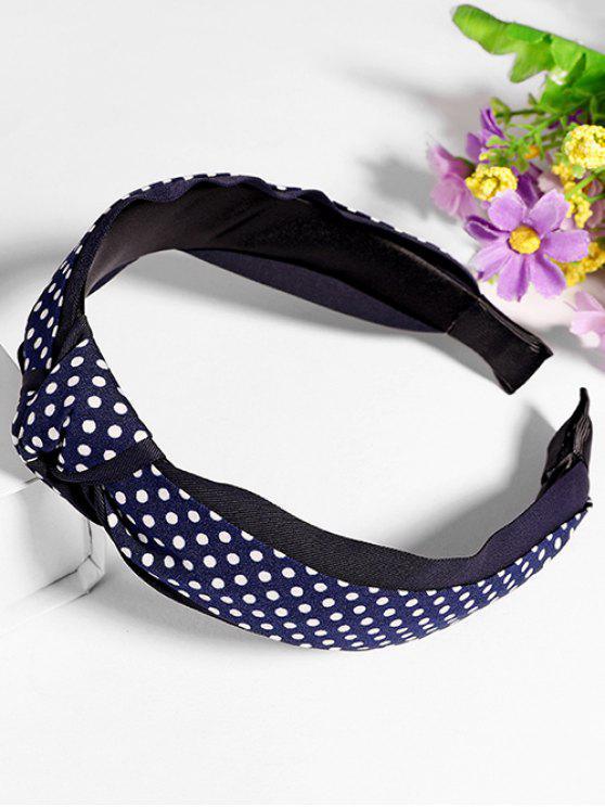 new Polka Dot Knot Hair Hoop - DEEP BLUE