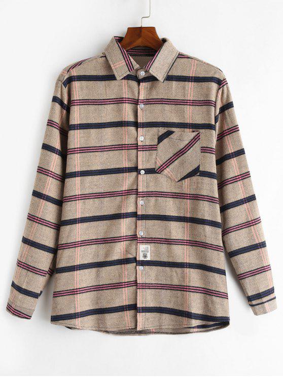 قميص من الصوف الناعم - كاكي 2XL