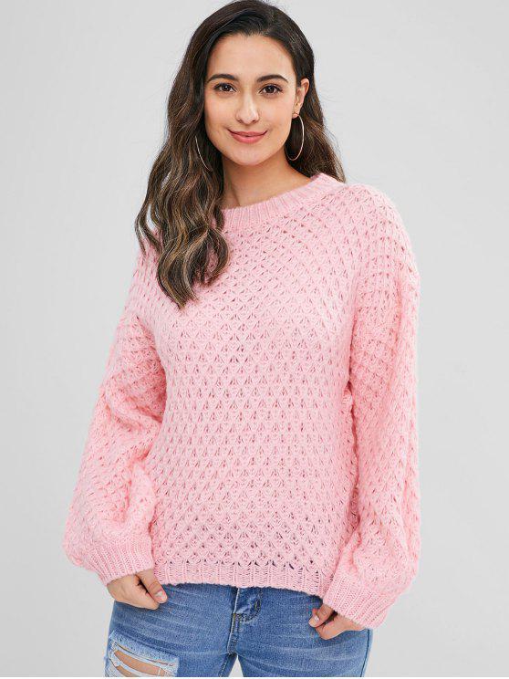 Свитер с длинным рукавом - Розовый Один размер