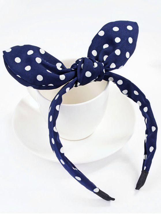 hot Cute Polka Dot Bowknot Hair Hoop - NAVY BLUE