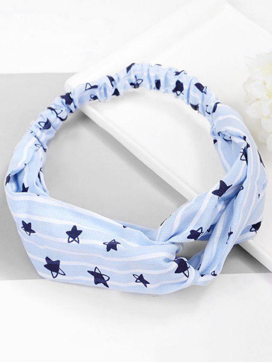 lady Star Pattern Hair Decoration Hairband - PASTEL BLUE