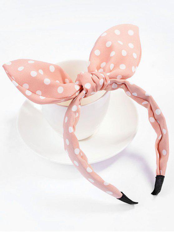 lady Cute Polka Dot Bowknot Hair Hoop - PINK