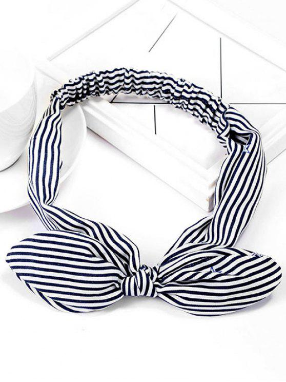 Stripe Star elástico bonito Hairband - Azul Escuro de Denim