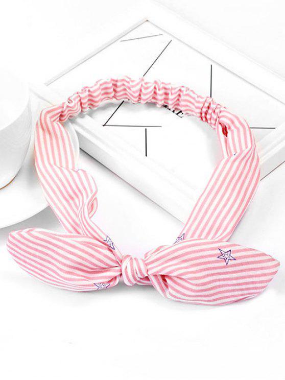 Hairband elástico lindo de la estrella de la raya - Rosa