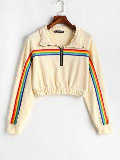 ZAFUL - Sweatshirt à Capuche à Rayures Colorées Sur Le Devant - Soie De Maïs S