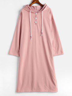 Schlitz-beiläufiges Kleid - Helles Rosa