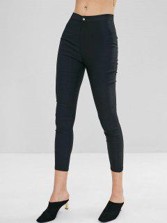 Pockets Skinny Pants - Black M