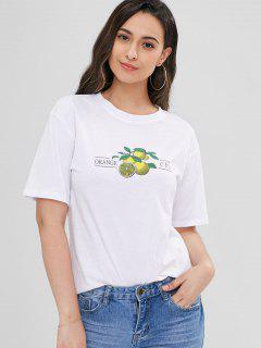 Camiseta Linda De Naranja - Blanco