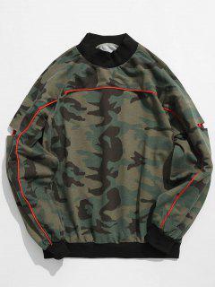 Sweat-shirt Patch Camouflage à Manches Découpées - Acu Camouflage M