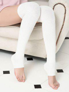 Winter Solid Color Leg Warmers - White