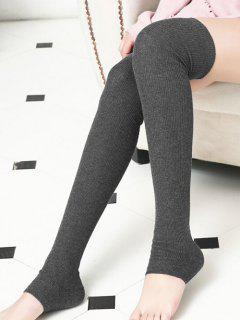 Winter Solid Color Leg Warmers - Gray