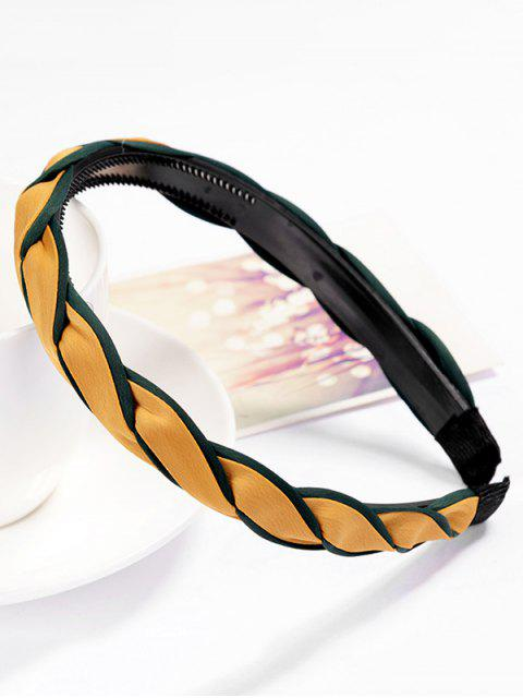shops Stylish Solid Color Hair Decoration Hair Hoop - BEE YELLOW  Mobile