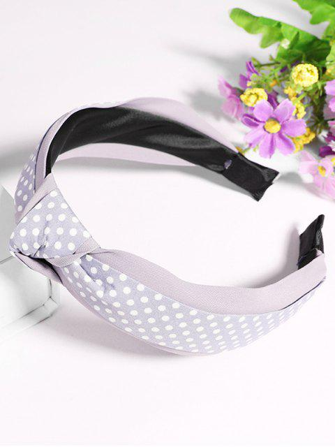 trendy Polka Dot Knot Hair Hoop - PLATINUM  Mobile