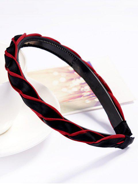fancy Stylish Solid Color Hair Decoration Hair Hoop - RED  Mobile