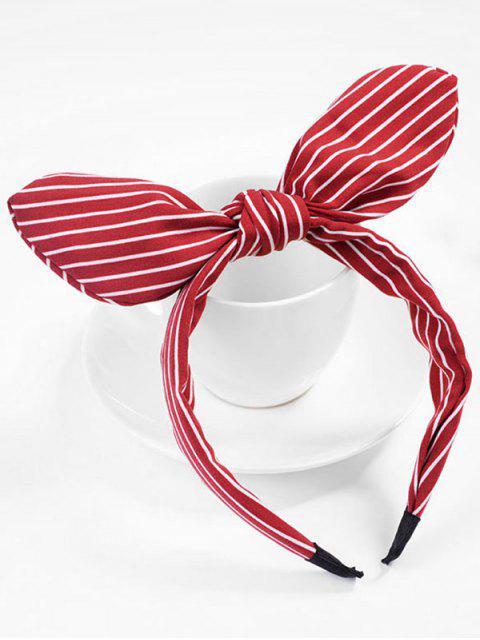 sale Cute Stripe Bowknot Hair Hoop - RED  Mobile