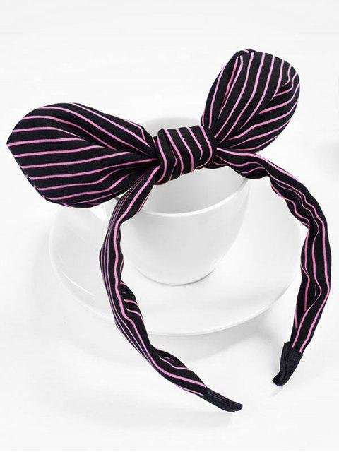 women's Cute Stripe Bowknot Hair Hoop - RED WINE  Mobile