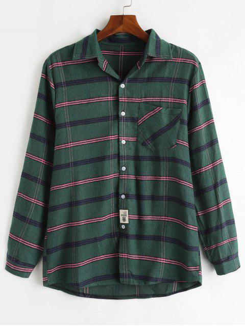 Chemise en laine à carreaux doux - Vert Foncé XL Mobile