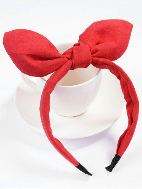 latest Cute Bowknot Party Hair Hoop - RED  Mobile