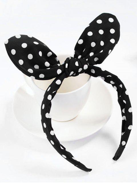 outfit Cute Polka Dot Bowknot Hair Hoop - BLACK  Mobile