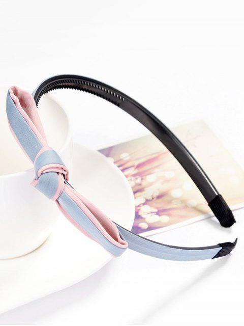 lady Solid Color Knot Hair Hoop - LIGHT BLUE  Mobile