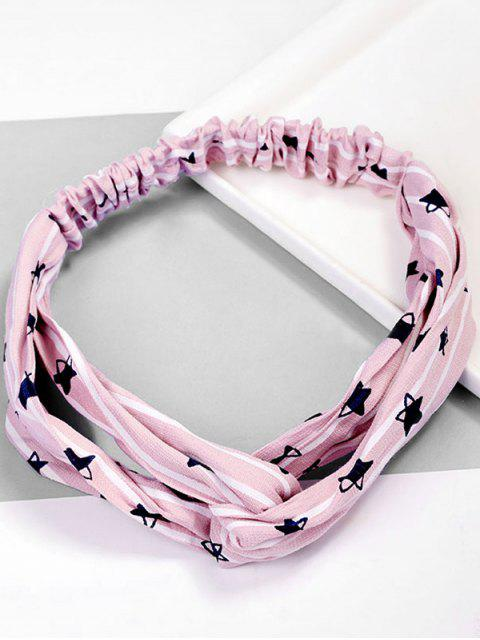 latest Star Pattern Hair Decoration Hairband - PINK  Mobile