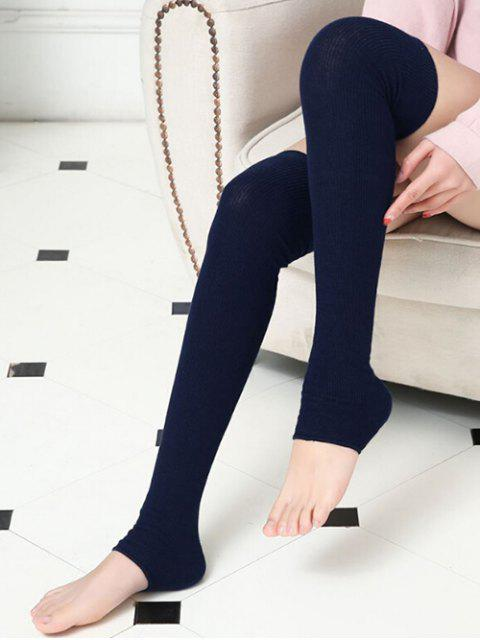 unique Winter Solid Color Leg Warmers - CADETBLUE  Mobile
