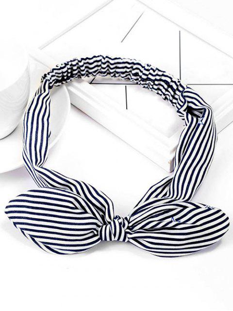 affordable Stripe Star Elastic Cute Hairband - DENIM DARK BLUE  Mobile