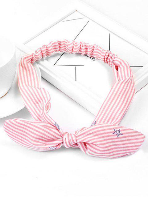 Hairband elástico lindo de la estrella de la raya - Rosado  Mobile