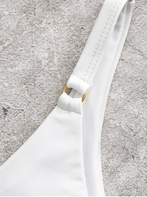 ZAFUL Одно плечо Высокие ноги Бикини в сборе - Белый M Mobile