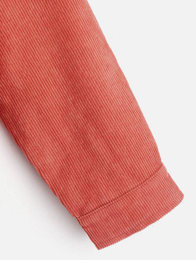 ZAFUL Fleece Vest and Corduroy Jacket Twinset, Sunrise orange