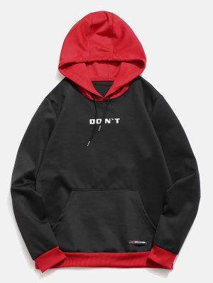 Hoodie mit kontrastfarbiger Buchstaben-Tasche
