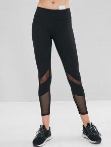 شبكة إدراج جيب مخفي الصالة الرياضية اللباس الداخلي - أسود L
