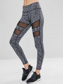 جيب مخفي إدراج إدراج هيذر رياضة اللباس الداخلي - اللون الرمادي S