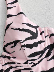 e93b9c5590415 26% OFF] 2019 ZAFUL High Cut Thong Zebra Underwire Swimsuit In LIGHT ...