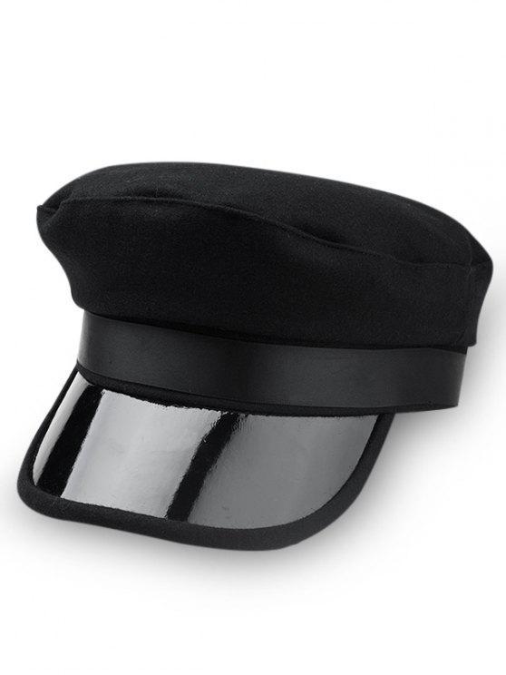 Chapeau Militaire Unique en Couleur Unie - Noir