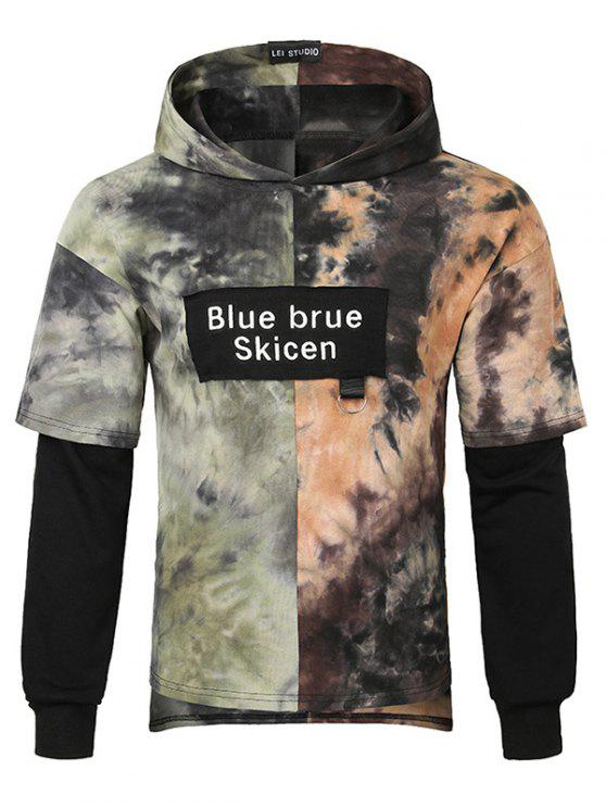 latest Casual Tie Dye Pullover Hoodie - MULTI XS