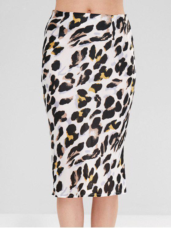 Leopard Print Bleistift Midirock - Leopardenmuster M