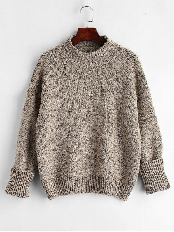 fancy Plain Heathered Pullover Sweater - MULTI ONE SIZE
