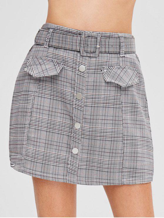 aec6dbfa1d1b80 Mini jupe à carreaux avec ceinture