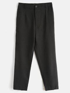 Zipper Striped Side Ninth Pants - Black M