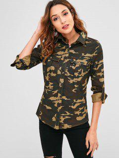 Camouflage Pockets Longline Jacket - Acu Camouflage L