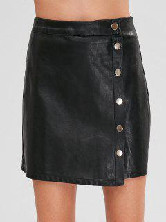 Mini Faux Leather Skirt - Black L