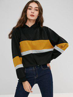Raglan Sleeves Pullover Hoodie - Black L