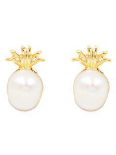 Stylish Pineapple Shape Alloy Earrings - Gold